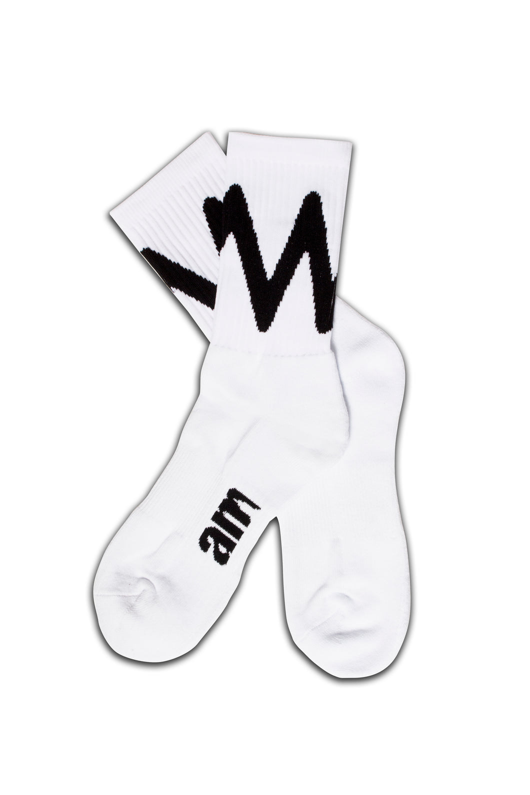 WAVE SOCKS WHITE/ BLACK