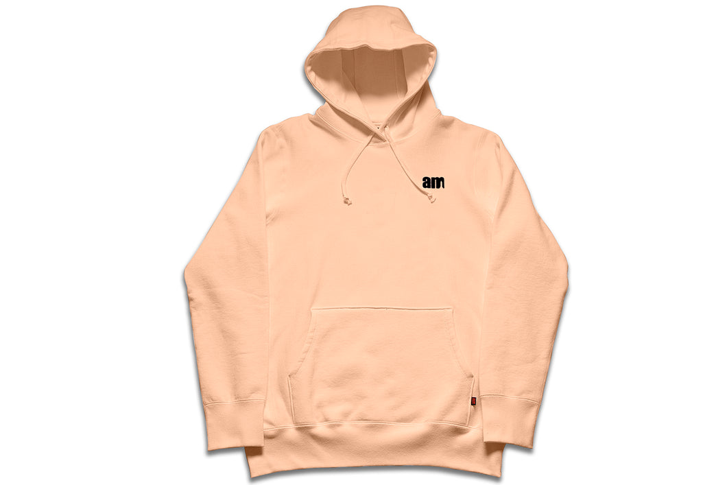 AM LOGO FLOCK PULLOVER PEACH