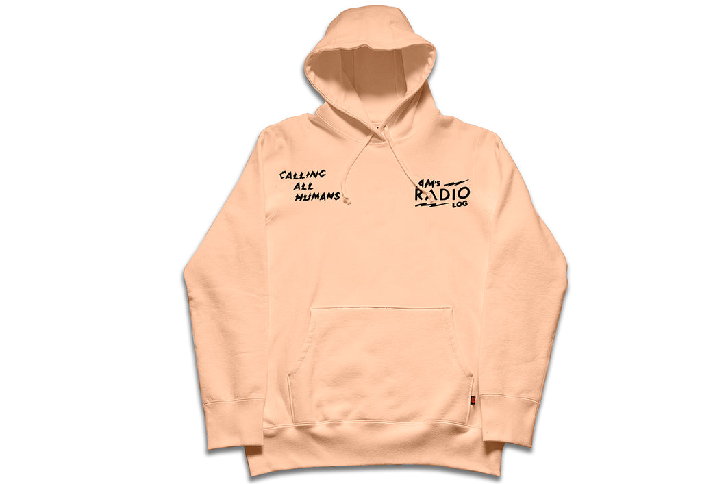 AM RADIO LOG PULLOVER PEACH