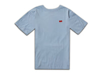 Load image into Gallery viewer, FLOCK AM LOGO TEE CHAMBRAY BLUE