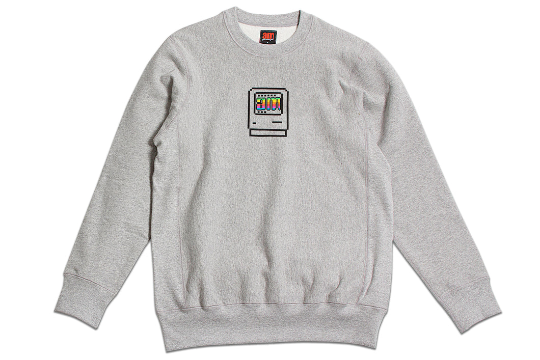 Computer Crewneck Heather Grey