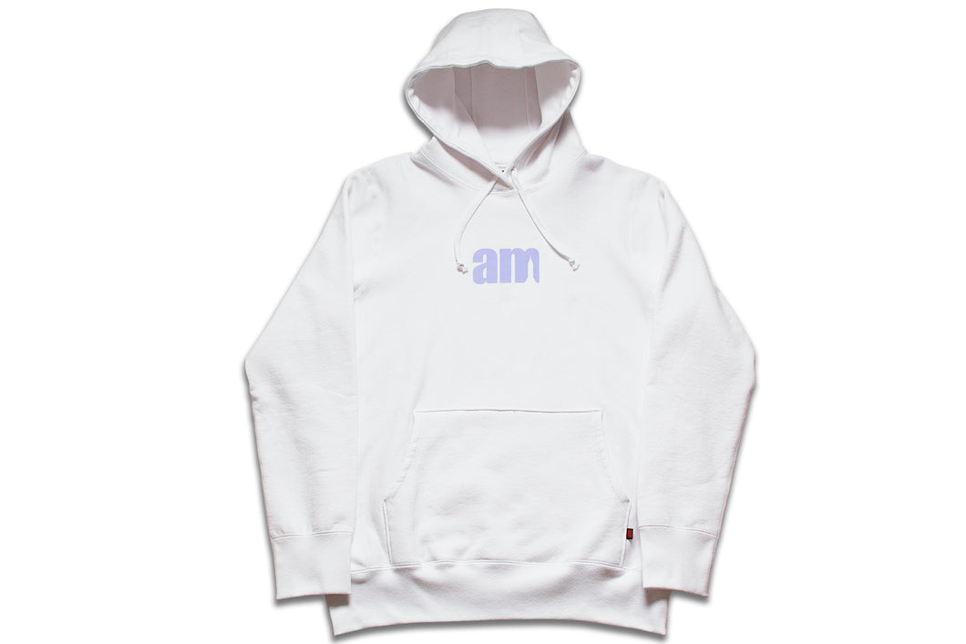 AM LOGO PULLOVER WHITE/PURPLE