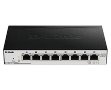 Load image into Gallery viewer, D-Link 8-Port Gigabit PoE Smart Managed Switch