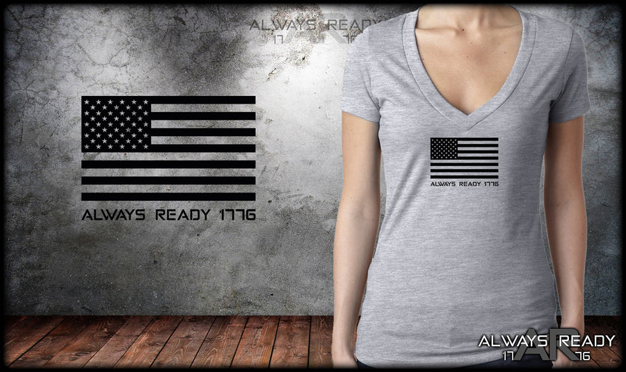 U.S.A. Chest Flag V-Neck
