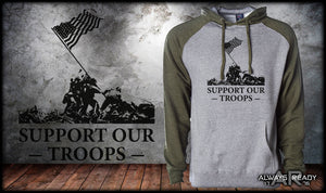 Support Our Troops Raglan Hoodie