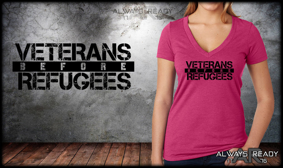 Veterans Before Refugees V-Neck