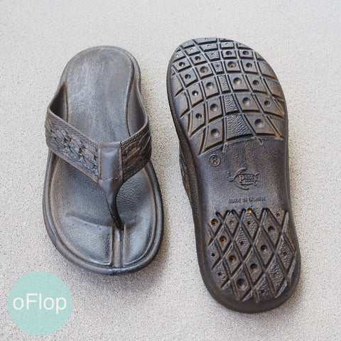Dark Brown Shaka -- Pali Hawaii ® Flip Flops