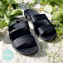Load image into Gallery viewer, Sandals - Black Jandals -- Pali Hawaii Hawaiian Jesus Sandals