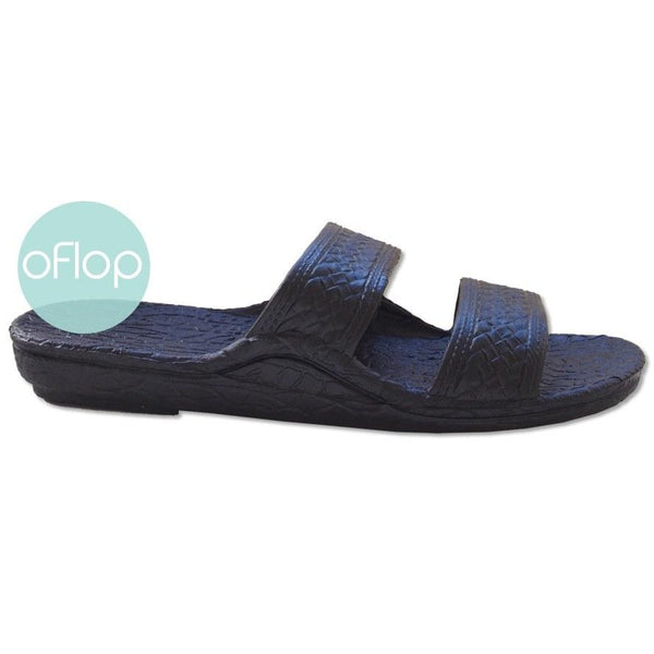 Sandals - Black Jandals -- Pali Hawaii Hawaiian Jesus Sandals