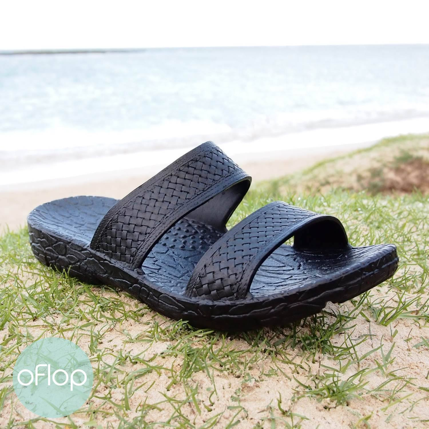 Sandals - Black Jane Jandals -- Pali Hawaii Hawaiian Jesus Sandals