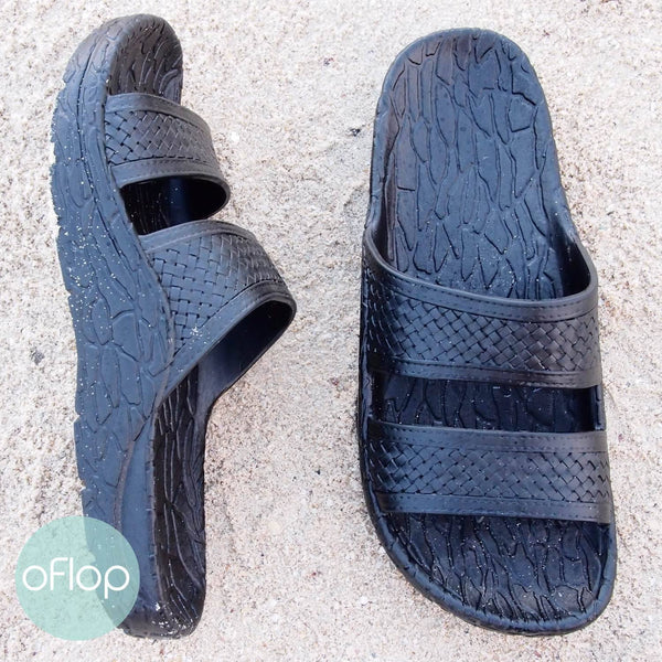 Sandals - Black Jon Jandals - Pali Hawaii Hawaiian Jesus Sandals