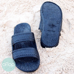 Sandals - Black Kids Jandals -- Pali Hawaii Hawaiian Jesus Sandals