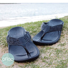 Load image into Gallery viewer, Sandals - Black Shaka - Pali Hawaii Flip Flops