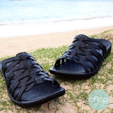 Sandals - Black Tia Jandals -- Pali Hawaii Hawaiian Jesus Sandals
