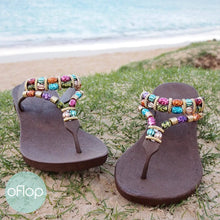 Load image into Gallery viewer, Sandals - Brown Sparkle Karma -- Pali Hawaii Thong Sandals