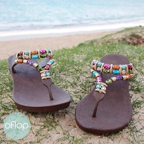 Sandals - Brown Sparkle Karma -- Pali Hawaii Thong Sandals