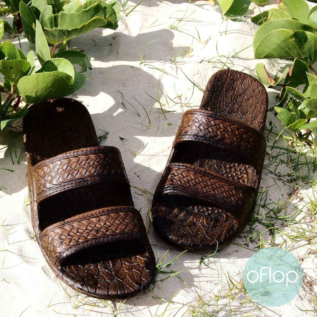 Sandals - Dark Brown Jandals -- Pali Hawaii Hawaiian Jesus Sandals