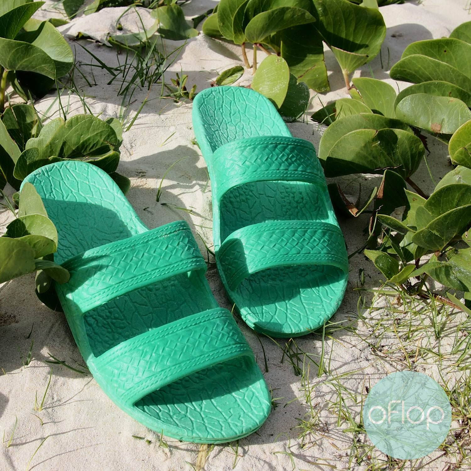 Sandals - Green Jandals -- Pali Hawaii Hawaiian Jesus Sandals