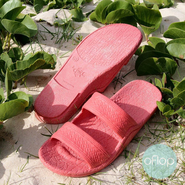 Sandals - Pink Jandals -- Pali Hawaii Hawaiian Jesus Sandals