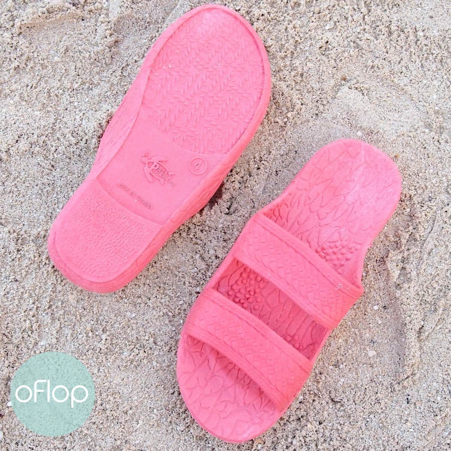 Sandals - Pink Kids Jandals -- Pali Hawaii Hawaiian Jesus Sandals