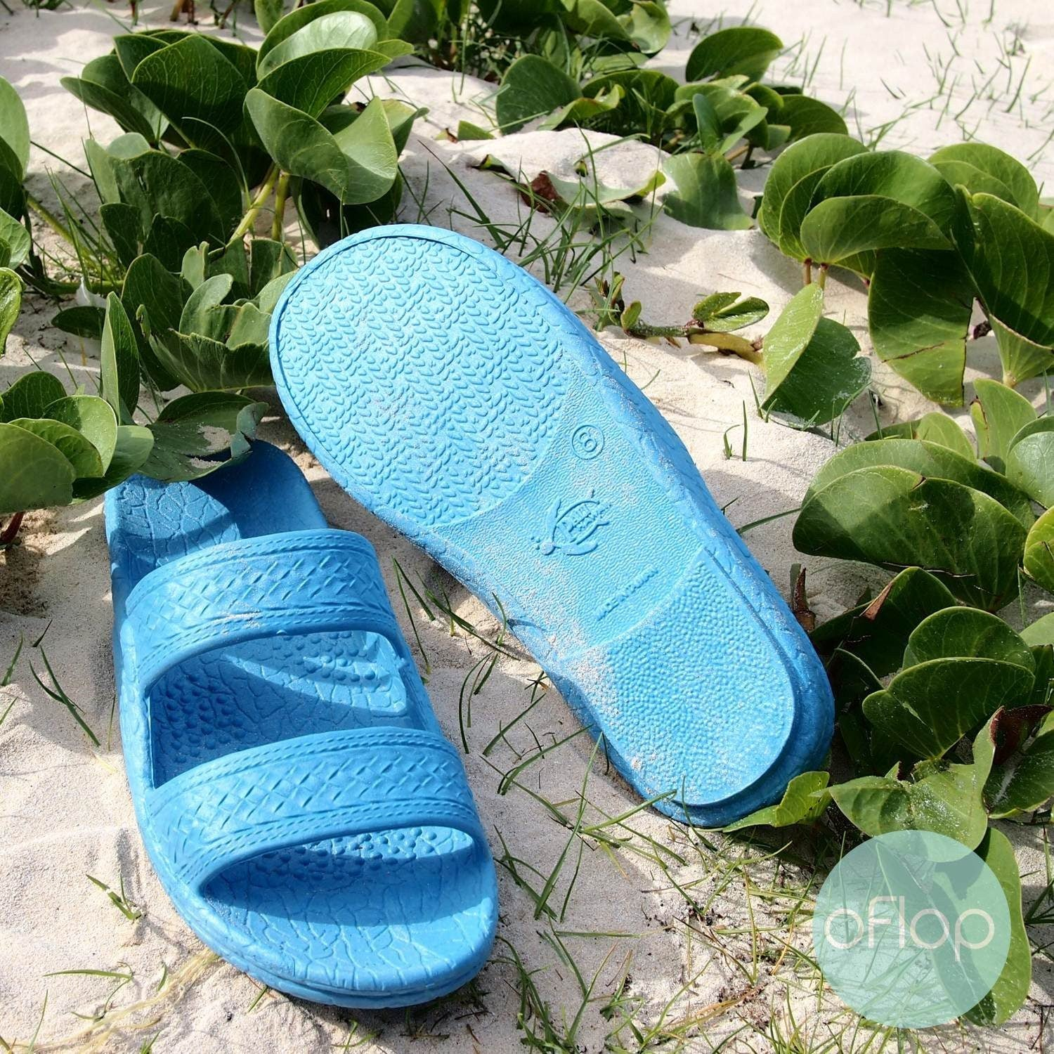 Sandals - Sky Blue Jandals -- Pali Hawaii Hawaiian Jesus Sandals