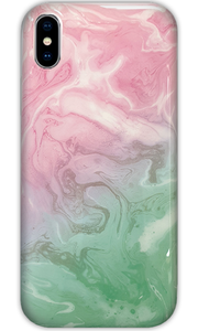 JUSTmarble Pink & Green Pastel iPhone X/Xs Case - customxcreations