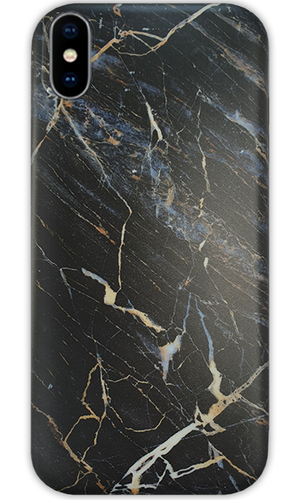 JUSTmarble Black iPhone 7/8 Case - customxcreations