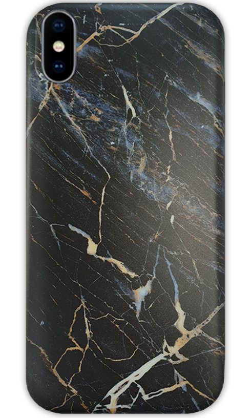 JUSTmarble Black iPhone X/Xs Case-customxcreations