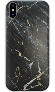 JUSTmarble Black iPhone XR Case - customxcreations