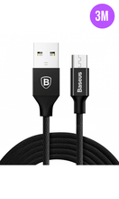 Load image into Gallery viewer, Extra Long Tough iPhone Charger Cable 3M Black-customxcreations