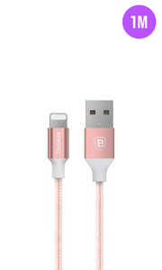 Rose Gold Tough iPhone Charger Cable 1M - customxcreations