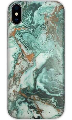 JUSTmarble Emerald Swirl Design iPhone XR Case-customxcreations