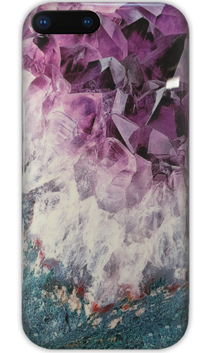 JUSTmarble Purple Quartz Design iPhone XR Case-customxcreations