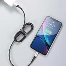 Load image into Gallery viewer, Metal Lightning Fast iPhone Charging Cable 2M (with Indicator Light)-customxcreations