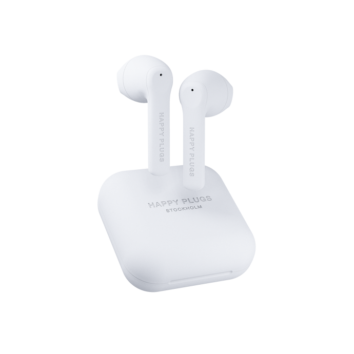 Happy Plugs Air 1 Go True Wireless- White-customxcreations