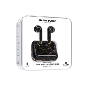 Happy Plugs Air 1 True Wireless Earphones Limited Edition- Black Marble
