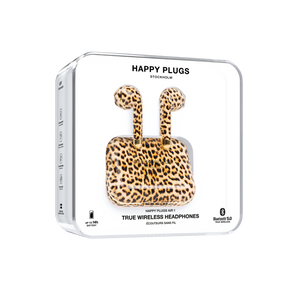 Happy Plugs Air 1 True Wireless Earphones Limited Edition- Leopard