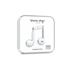 Happy Plugs Earbud Plus- White-customxcreations