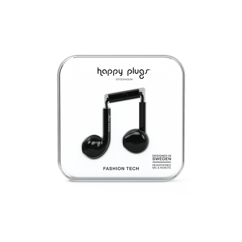 Happy Plugs Earbud Plus - Black - customxcreations