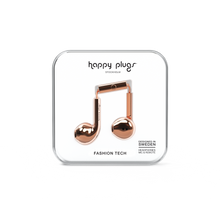 Load image into Gallery viewer, Happy Plugs Earbud Plus - Chrome Rose Gold - customxcreations