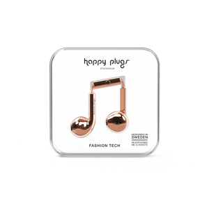Happy Plugs Earbud Plus - Chrome Rose Gold - customxcreations