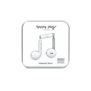 Happy Plugs Earbud Plus - White-customxcreations