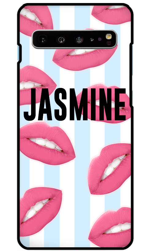 Hot Lips Bleu Samsung S10 Case - customxcreations