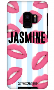 Hot Lips Bleu Samsung S9 Case-customxcreations