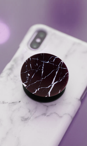 Black & White Marble Pop Socket - customxcreations