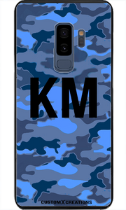 Royal Blue Camo Samsung S8 Plus Case - customxcreations