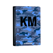 Load image into Gallery viewer, Personalised Blue Camo Passport Cover