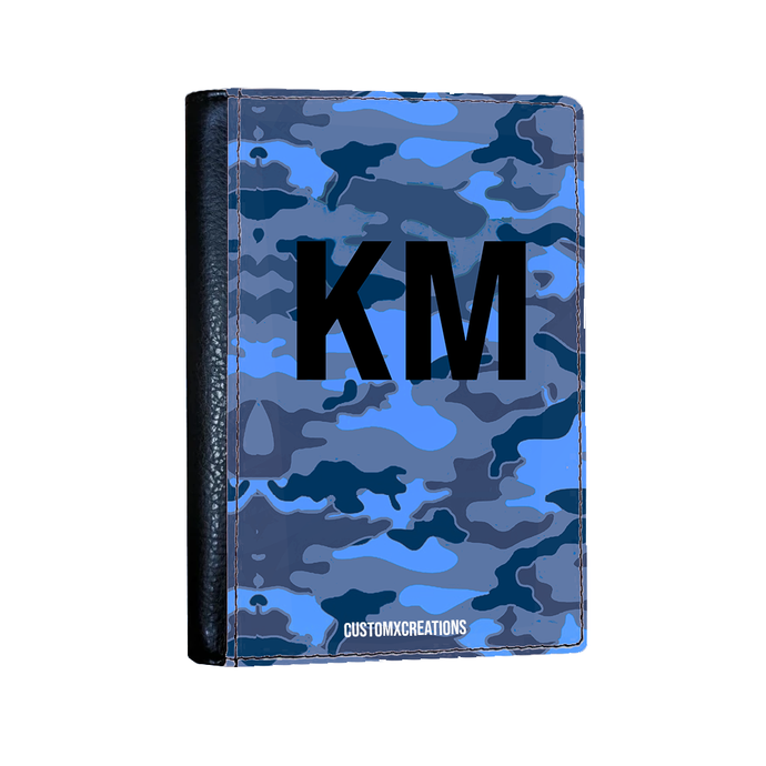 Personalised Blue Camo Passport Cover