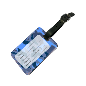 Personalised Blue Camo Luggage Tag-customxcreations