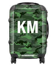 Load image into Gallery viewer, Personalised Green Camo Suitcase